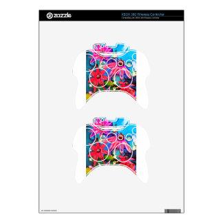 Arte rosado del jardín de flores del cono mando xbox 360 skin