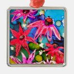 Arte rosado del jardín de flores del cono ornato