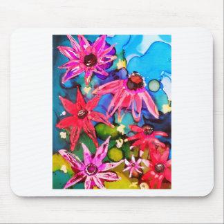 Arte rosado del jardín de flores del cono tapete de ratón