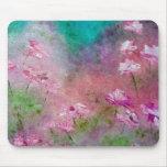 Arte rosado del jardín de rosas tapetes de ratones