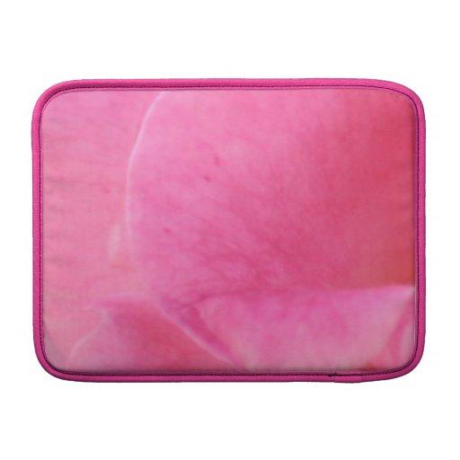 Arte rosado del pétalo color de rosa - decoracione fundas macbook air