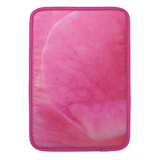 Arte rosado del pétalo color de rosa - decoracione funda  MacBook