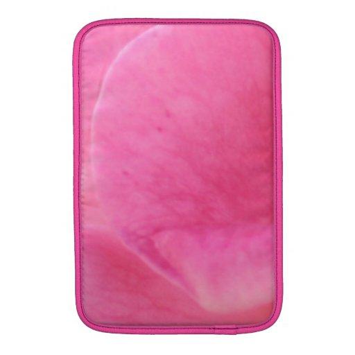 Arte rosado del pétalo color de rosa - decoracione fundas MacBook