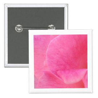 Arte rosado del pétalo color de rosa - pin cuadrado