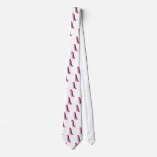 Arte rosado del zapato del estilete corbatas