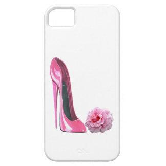 Arte rosado del zapato del estilete y color de iPhone 5 funda