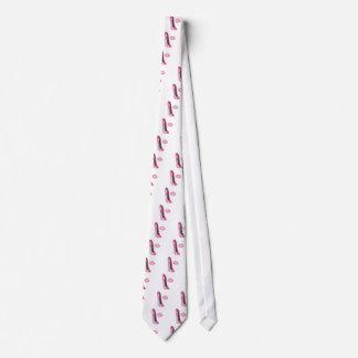 Arte rosado del zapato y del beso del estilete corbata