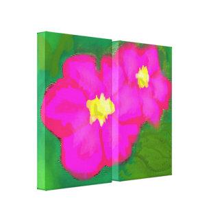 Arte rosado impresionante de la flor impresion de lienzo