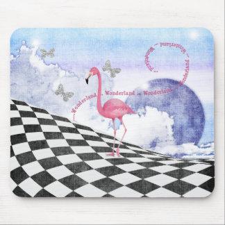 Arte rosado Mousepad de la fantasía del flamenco d Tapete De Raton