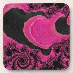 Arte rosado/negro elegante hermoso del fractal