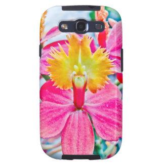 Arte rosado vibrante de la orquídea galaxy SIII cárcasas