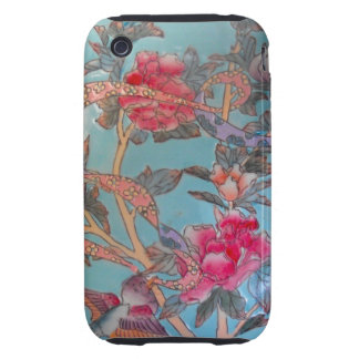 Arte rosado y azul claro bonito del esmalte iPhone 3 tough cárcasas