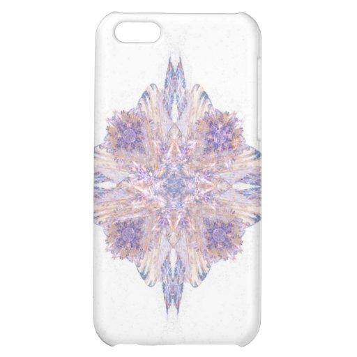Arte rosado y azul del fractal del diamante