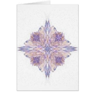 Arte rosado y azul del fractal del diamante tarjetón