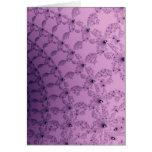 Arte rosado y púrpura bonito del modelo tarjeta
