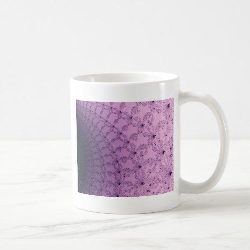 Arte rosado y púrpura bonito del modelo taza de café