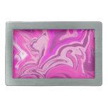 Arte rosado y púrpura de la pintada de Camo Hebilla De Cinturon
