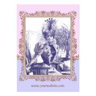 Arte rosado y púrpura Nouveau de la diva de la Tarjetas De Visita Grandes