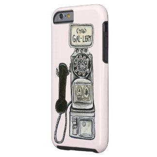Arte rotatorio del teléfono público del vintage funda para iPhone 6 tough