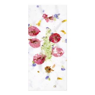 Arte roto de las flores, vela roja y verde lonas