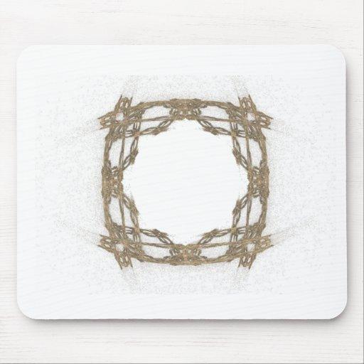 Arte rústico del fractal de la mirada del alambre  tapete de raton