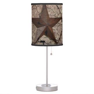 Arte rústico del país occidental de la estrella de lámpara de mesa