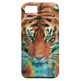 Arte salvaje de la fauna del gato grande de la iPhone 5 Case-Mate funda