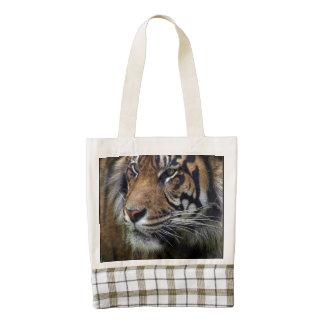 Arte salvaje de la fauna del tigre del tigre de bolsa tote zazzle HEART