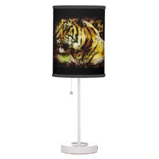 Arte salvaje de la fauna del tigre del tigre de Su Lámpara De Escritorio