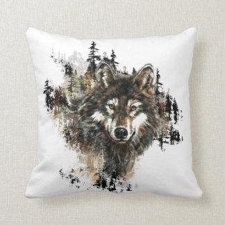 Arte salvaje de la naturaleza animal de la montaña cojin