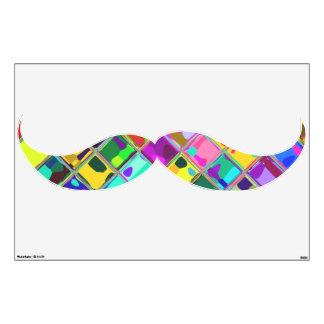 Arte salvaje de la pared del bigote del bigote del vinilo adhesivo