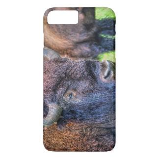 Arte salvaje de los bóvidos del búfalo y del funda iPhone 7 plus