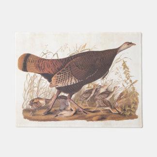 Arte salvaje del vintage de Audubon de la gallina Felpudo
