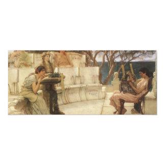 """Arte, Sappho y Alcaeus del vintage de Alma Tadema Invitación 4"""" X 9.25"""""""