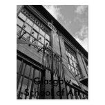 Arte school16x12bw, escuela de Glasgow del arte Tarjeta Postal
