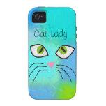 """Arte """"señora de los amantes del gato del gato """" Case-Mate iPhone 4 carcasa"""