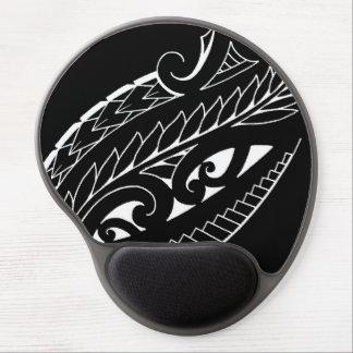 Arte silverfern blanco del símbolo nacional de alfombrilla de ratón con gel