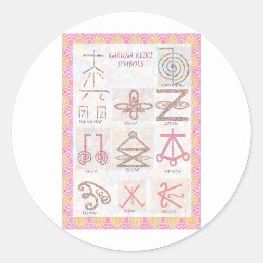 ARTE simbólico: Reiki domina las herramientas de Etiquetas Redondas
