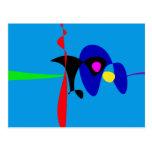 Arte simple de Digitaces del expresionismo Postal