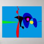 Arte simple de Digitaces del expresionismo Póster