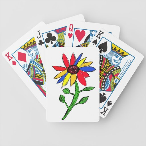 Arte simple de la flor baraja de cartas