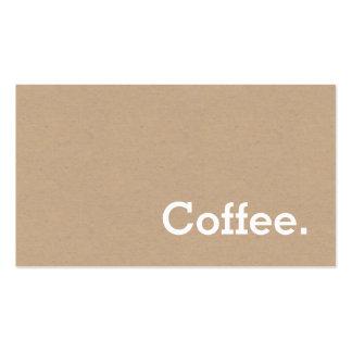 Arte simple de la tarjeta perforada del café de la tarjetas de visita