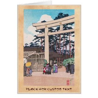 Arte sintoísta de la capilla de Meiji de la arquit Tarjeta Pequeña