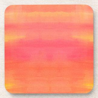 Arte Solenoide-Amarillo y anaranjado de la Posavasos De Bebida