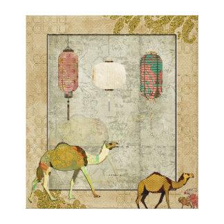 Arte soñador de la lona de los camellos lona envuelta para galerías