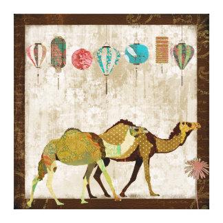 Arte soñador de la lona del viaje de los camellos lienzo envuelto para galerías
