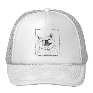 arte sonriente lindo divertido del perro del gorros bordados
