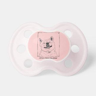 arte sonriente lindo divertido del perro del reali chupetes para bebes