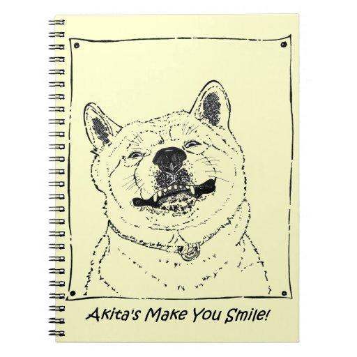 arte sonriente lindo divertido del perro del reali libreta espiral