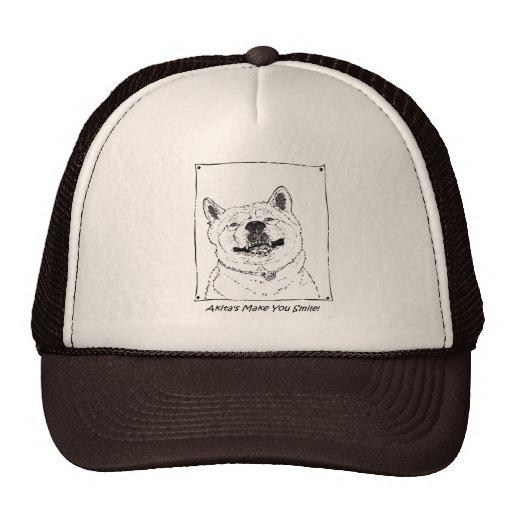 arte sonriente lindo divertido del perro del reali gorra